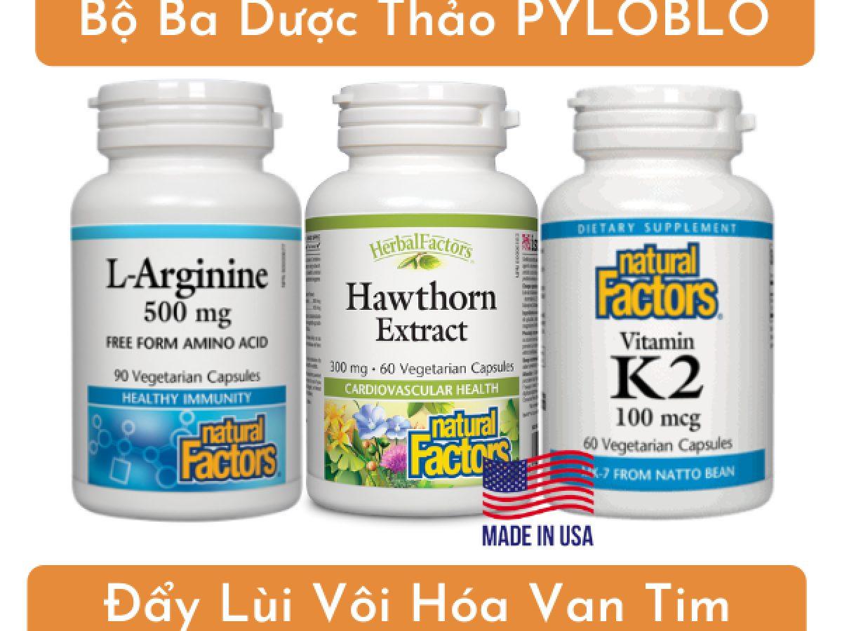 Bộ ba dược thảo PyLoBlo từ Mỹ - cứu tinh cho người bị vôi hóa van tim