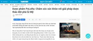 Bài viết về PYLORA trên báo Thanh Niên online