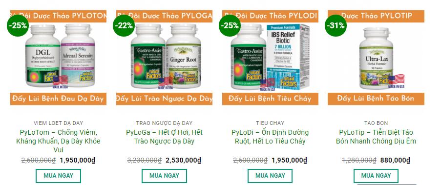 Khuyến mãi giảm giá dược thảo xương khớp PYLORA