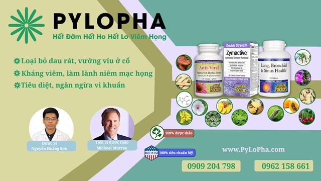 """Sử dụng bộ ba dược thảo PyLoPha hỗ trợ """"đánh tan"""" viêm họng mãn tính an toàn, hiệu quả"""