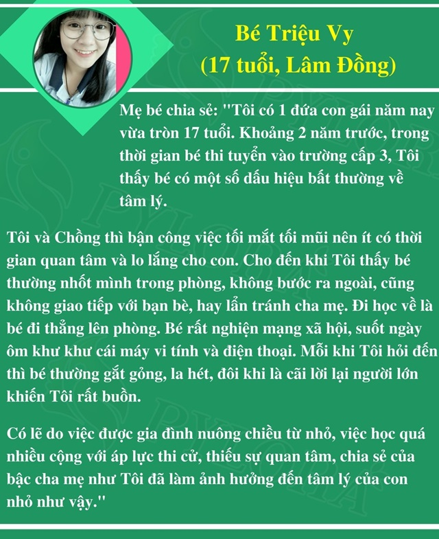Câu chuyện trầm cảm của bé Triệu Vy từ lời chia sẻ của phụ huynh